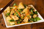 Warm Thai Tofu Puff Salad